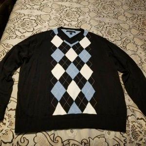 Tommy Hilfiger Plaid Men Sweater Size XL